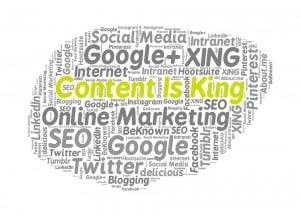 Google nach vorn, online Positionierung